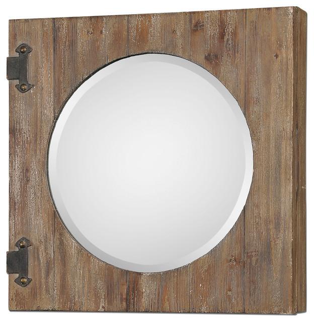 Gualdo Aged Wood Mirror Cabinet traditional-medicine-cabinets