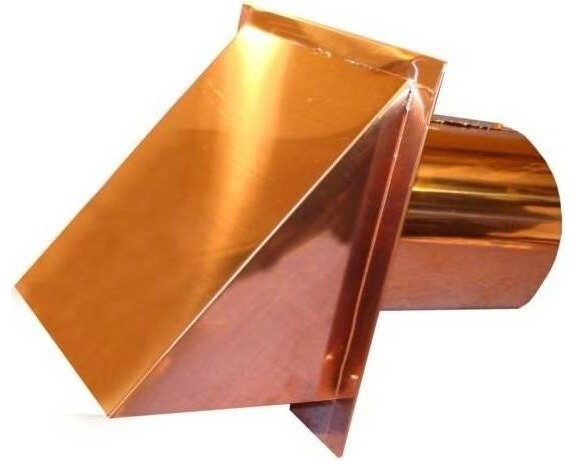 Copper Exterior Side Wall Cap 7 Inch With Screen Only