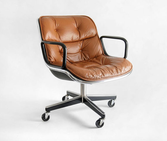 Vintage Knoll Pollock Executive Armchair By Hindsvik modern-task-chairs