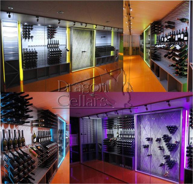 Modern Metal Racking Systems wine-cellar