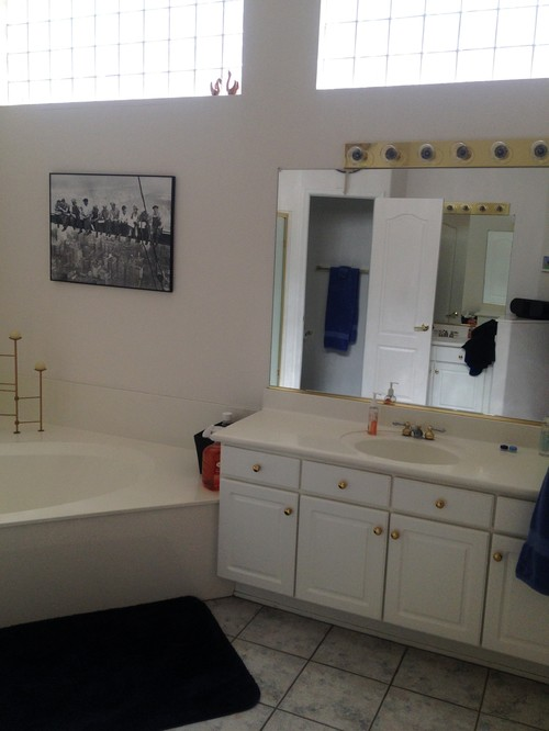 Help my master bath is stuck in the 90 39 s for Help design my bathroom