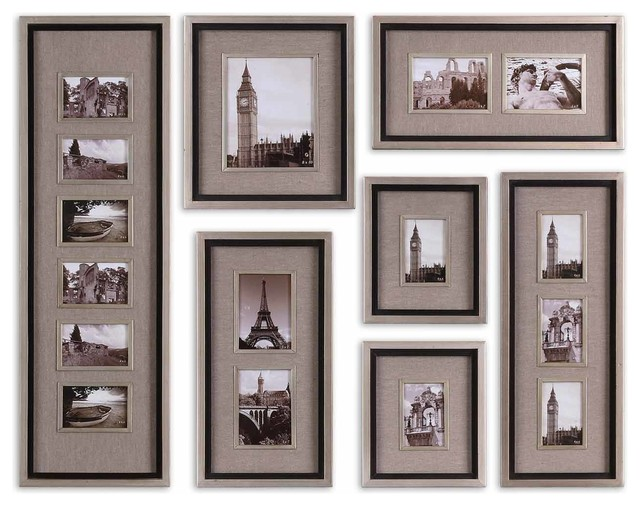 Photo Frame On Walls : Massena Photo Frame Collage, Set of 7 - Traditional - Picture Frames ...