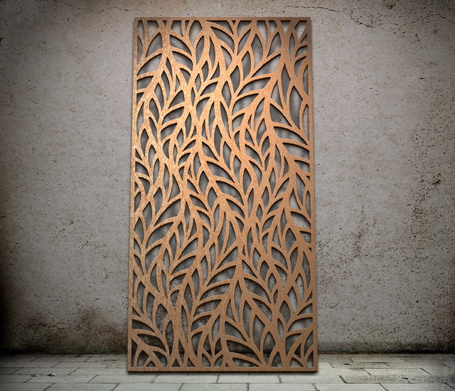 Frond design - laser cut screen - Modern - Screens And Room Dividers ...