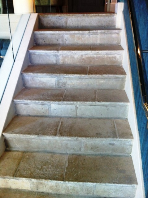 Antique Reclaimed French Blonde Barr limestone flooring eclectic-floor-tiles
