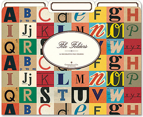 Cavallini Vintage Alphabet File Folders modern home office products