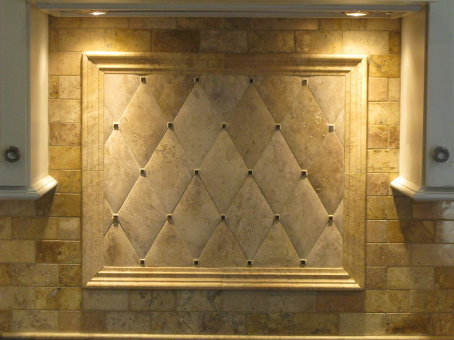 Backsplash hand honed travertine traditional boston by tile gallery - Backsplash designs travertine ...