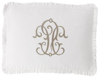 Legacy Home Hampton Bed Linens Hampton Scroll Sham, King traditional-pillowcases-and-shams