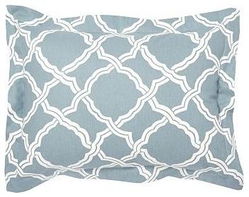 Kendra Trellis Sham, Standard, Blue traditional-shams