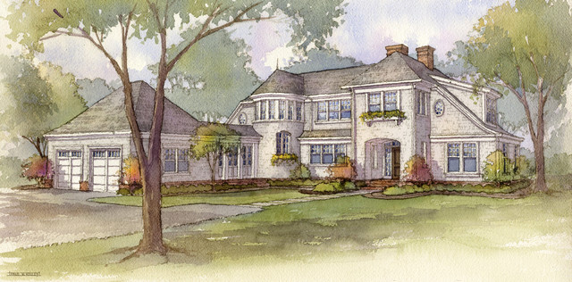 New Construction - Shingle Style Residence traditional-rendering