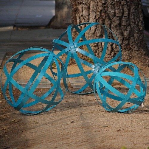 Powder-Coated Iron Spheres contemporary-outdoor-decor