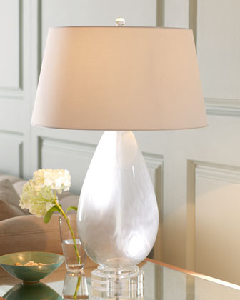 Arteriors Frosted Glass Table Lamp traditional table lamps