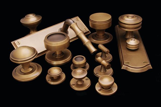SA Baxter Bespoke Brass and Bronze Door Knobs traditional