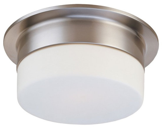"""Sonneman - Sonneman Flange 9"""" Satin Nickel Ceiling Light Fixture - A clean white shade is understated and provides the ideal room lighting. The lack of detail means this fixture will blend well with many decors. Design by Sonneman. Satin nickel finish. White frosted glass. Takes one 60 watt medium base bulb (not included). 5"""" high. 9"""" diameter. Shade is 3"""" high 6 1/2"""" diameter.  Satin nickel finish.  White frosted glass.  Takes one 60 watt medium base bulb (not included).  5"""" high.  9"""" diameter.  Shade is 3"""" high 6 1/2"""" diameter."""