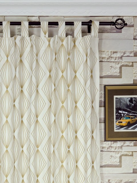 Tab top curtain ideas home design and interior for Window cotton design