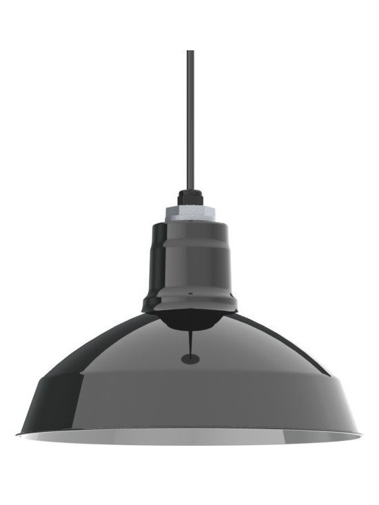 Barn Light Electric - Ivanhoe™ Dino Porcelain Cord LED Pendant Light - The power of porcelain lighting combined with LED technology from Cree, the nation's leader in LED lighting innovation! This porcelain pendant light offers bright white lights for your dining room, kitchen, office, or commercial venue.