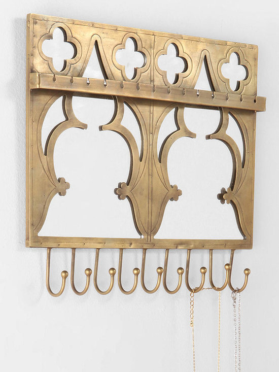 Mirrored Jewelry Holder Wall Hook - Urban Outfitters -