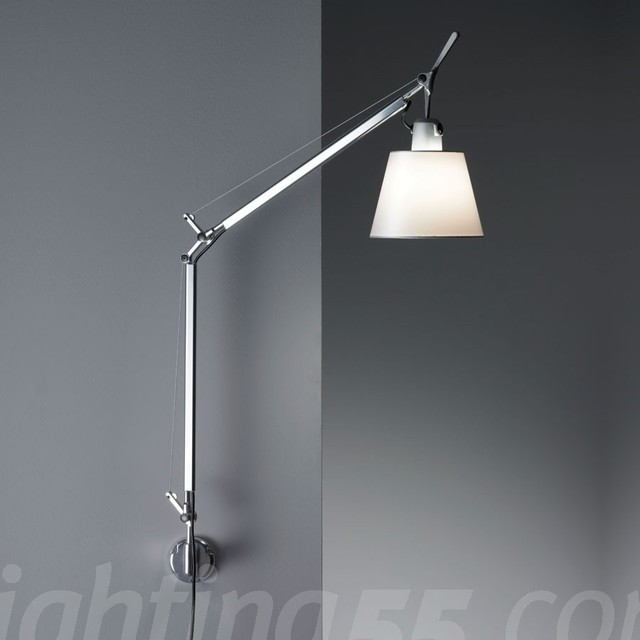 Artemide Tolomeo With Shade Wall Sconce Modern