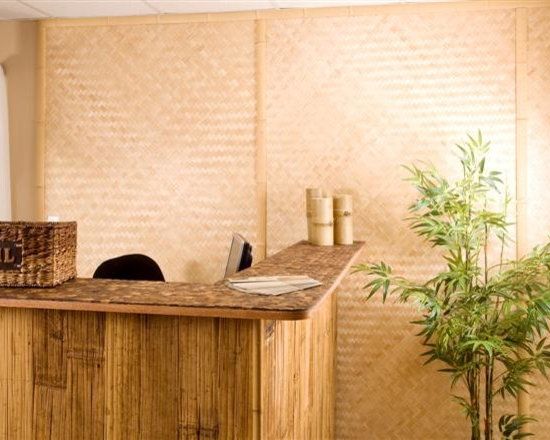 "Decorative Boards - Woven Bamboo Plywood is made from the interior part of a bamboo pole and cut into 1/2"" strips. These strips are then pressed together in a herringbone pattern to form a bamboo plywood sheet."