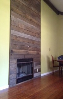 white wood fireplace surround