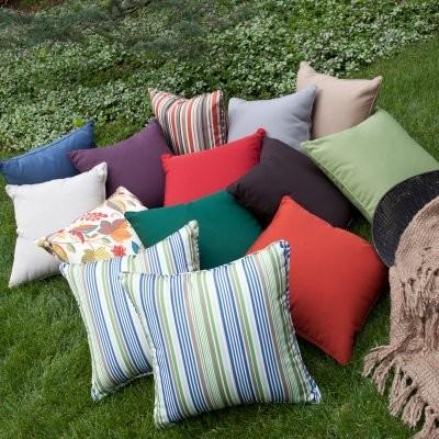 Coral Coast 20 x 20 Outdoor Toss Pillows - Set of 2 modern-outdoor-pillows