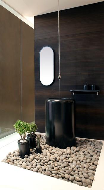 Gessi Goccia Ceiling Mount Faucet Contemporary Bathroom Faucets And Showerheads Orange