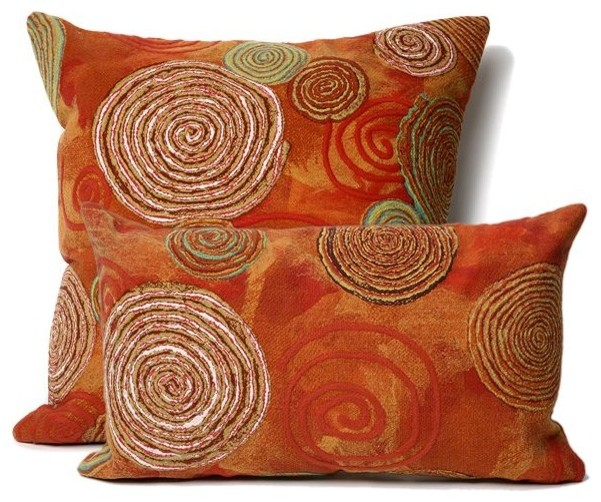 Graffiti Swirl Warm Outdoor Pillow Outdoor Cushions And