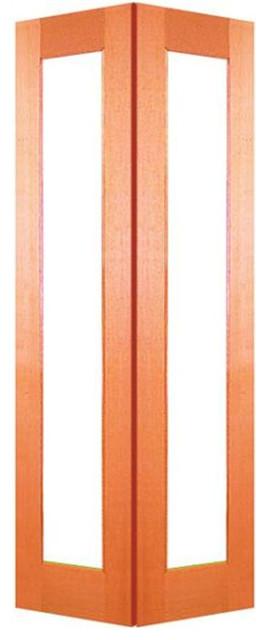 Woodcraft 2040 X 820 X 35mm 1 Lite Clear Safety Glass Internal Bi Fold Door