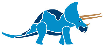 Triceratops Dinosaur Stencil for Painting - Contemporary - Wall ...