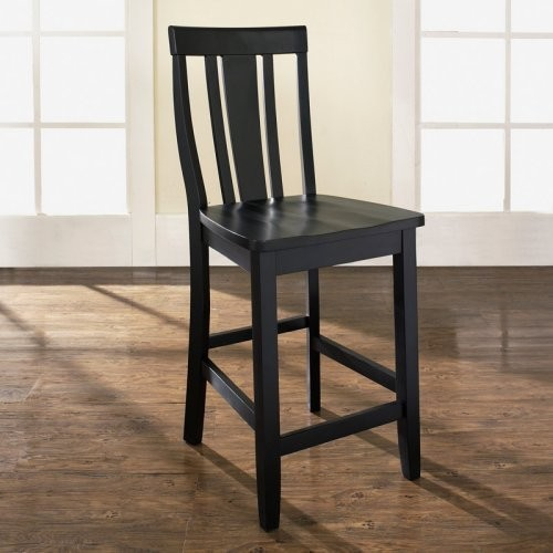 shield back 24 in counter stool set of 2 contemporary