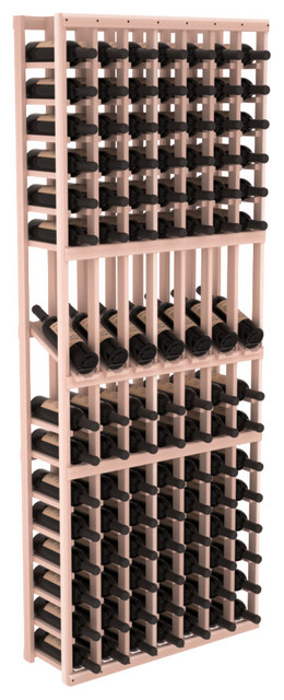 7 Column Display Row Wine Cellar Kit in Redwood, White Wash contemporary-wine-racks