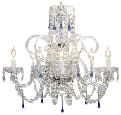 Blue Crystal chandelier No Reserve traditional-chandeliers