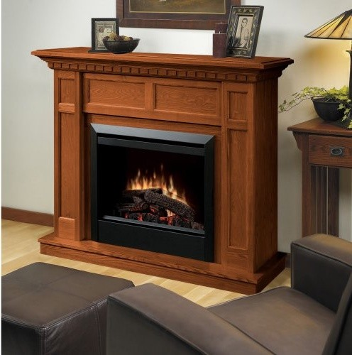 Dimplex Caprice Oak Electric Fireplace traditional-indoor-fireplaces