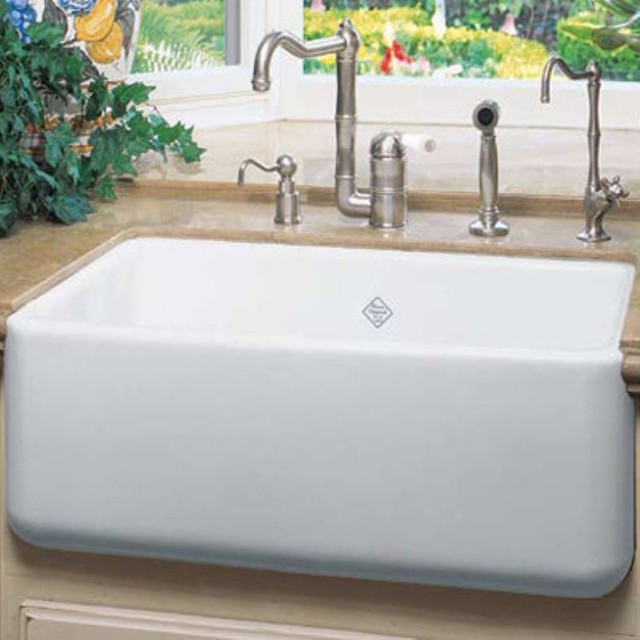 Rohl Farmhouse Sink : Rohl RC2418 Shaws Original Single Basin Farmhouse Sink - RC2418WH ...