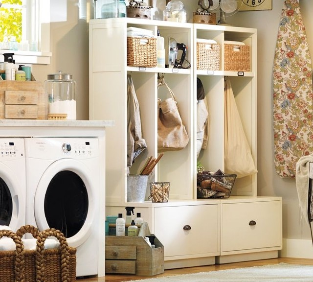 Mudroom Modular Storage : Entryway storage pottery barn room ornament