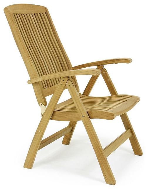 Montecarlo Teak Recliner modern outdoor lounge chairs