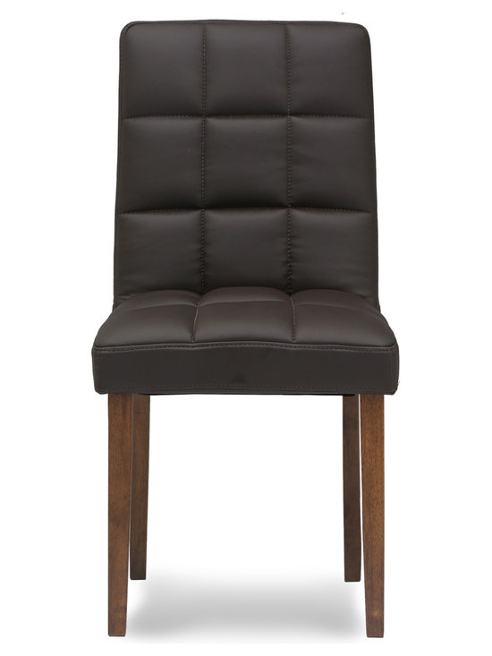Bryght - Damita Bonded Leather Dining Chair - A perfect choice for the modern home, the Damita dining chair is sturdy and hard wearing with solid wooden legs and exquisite bonded leather upholstery. So sit back and relax as long as you like in this well padded lap of luxury.