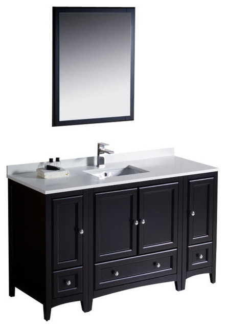 54 Inch Single Sink Bathroom Vanity In Antique White