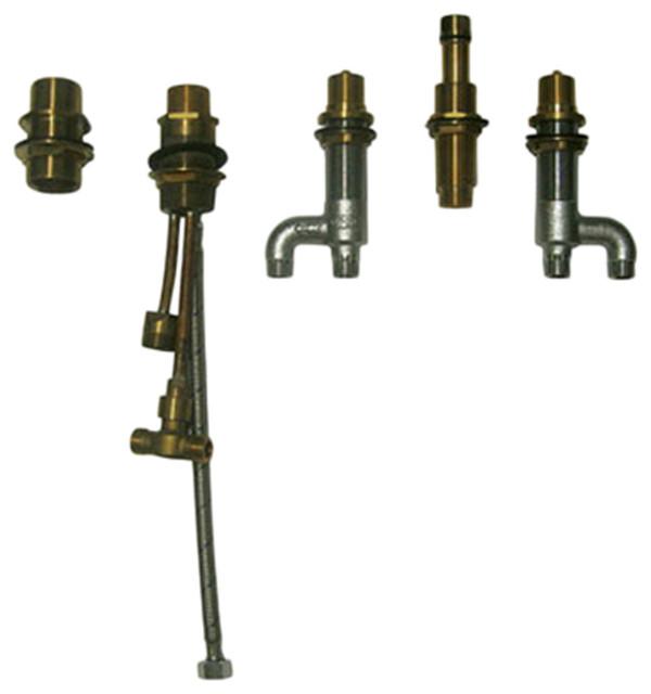 Toto TB6FR Deck Mount Bath Faucet W Lever Handles Hand Shower Diverte