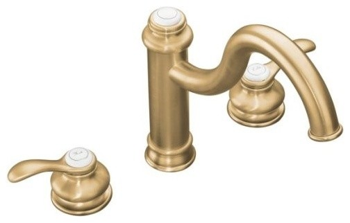 KOHLER K-12230-BV Fairfax High Spout Kitchen Sink Faucet with Lever Handles in B traditional-kitchen-faucets