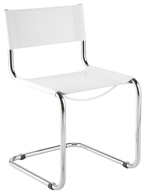 Ital Modern Sabrina Side Chair in White [Set of 2] modern-dining-chairs