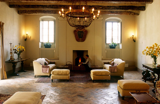TRADITIONAL LIVING - TERRACOTTA FLOOR - SPAIN TILE - OLD DESIGN - LUXURYSTYLE.ES traditional