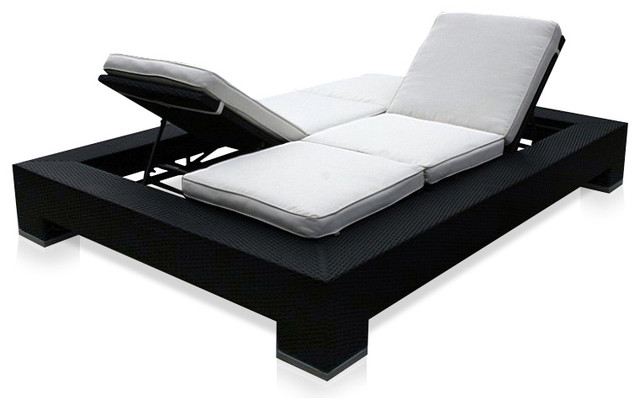 Outdoor Duo Convertible Lounger contemporary outdoor chaise lounges