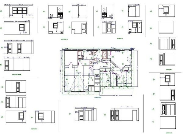 Residential details modern floor plan new york by for Modern residential architecture floor plans