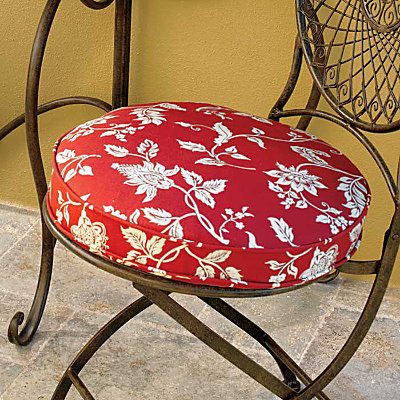 """Round Box Seat Cushion 16"""" Contemporary Outdoor"""