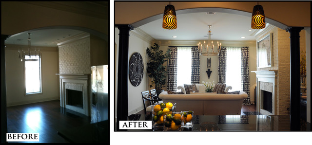 Before and After Interior Design traditional