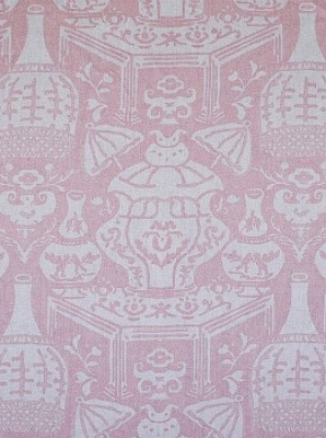 "Clarence House ""New Vase Linen - Pink"" (34639-4) asian-fabric"
