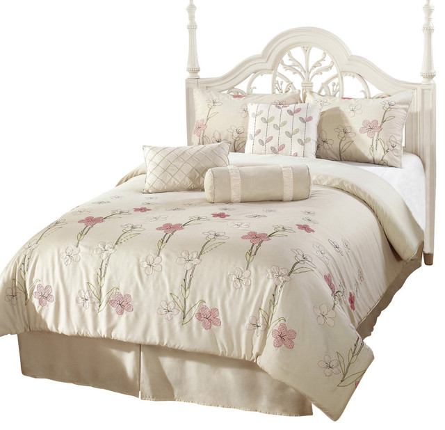 Alexis Down Alternative Comforter Set Off White Queen