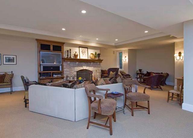 Fisher Lane Residence traditional-basement
