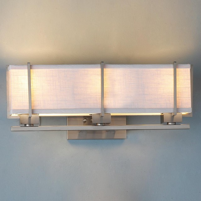 Electrical Box For Bathroom Vanity Light : Energy Star Linen Box Shade Bath Vanity Light - Lamp Shades - by Shades of Light