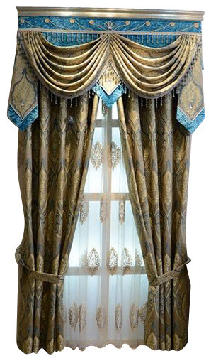 Luxury Window Curtain Aegean Sea Midcentury Curtains